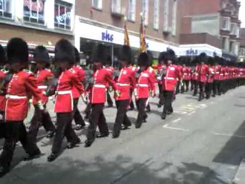 Exeter High Street March with the Queens Soldiers on 06/07/2011.