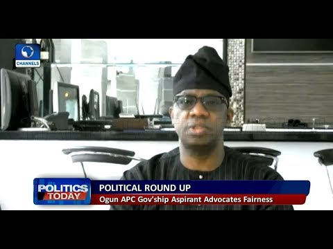 Ogun APC Governorship Aspirant Challenges Zoning Arrangement |Politics Today|