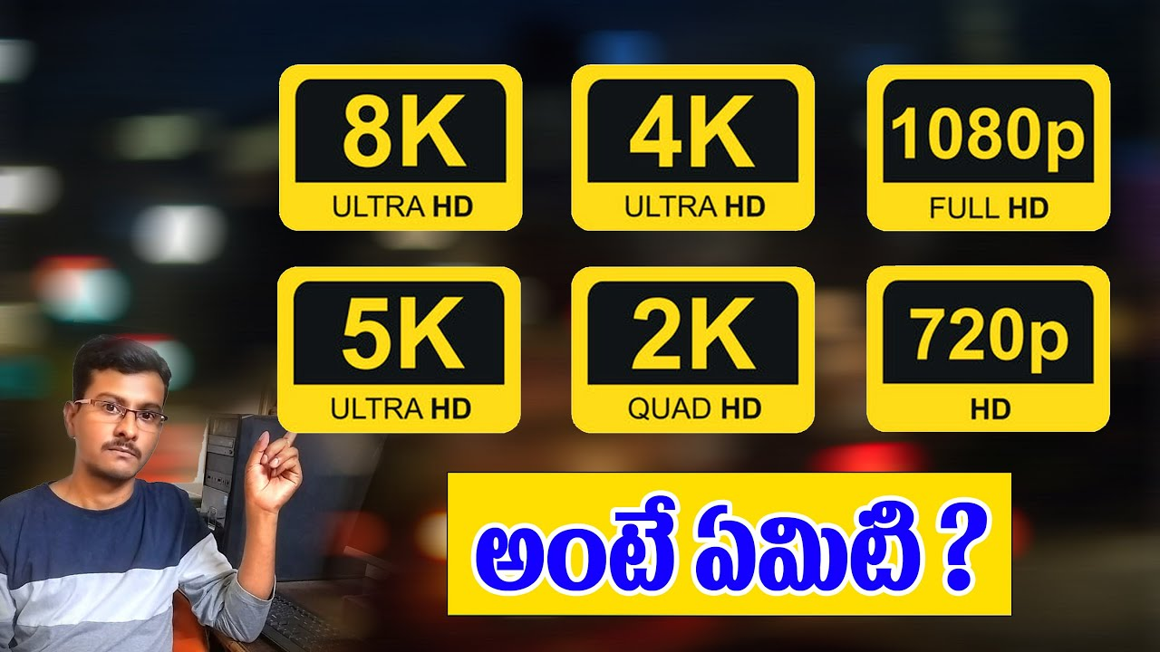 Download Difference between SD,HD,FHD,QHD and 4k Quality in telugu