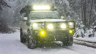 Land Cruiser 200 OFFROAD in the DEEP SNOW & chasing Waterfalls