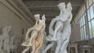 Frilli Gallery 1860  The Carving of a marble block  Apollo & Daphe replica after Lorenzo Bernini