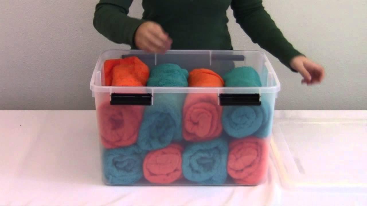 Iris Airtight Storage Bins 46 quart & Iris Airtight Storage Bins 46 quart - YouTube