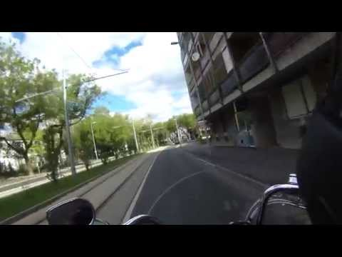 Video tour on a motorcycle in the city of Debrecen, Hungary. Harley Davidson Softail Heritage FLSTC.