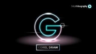 TUTORIAL: NEON GLOW LOGO DESIGN en Corel Draw | DelcaVideography