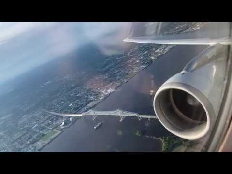 Gorgeous American A320 Sunset Takeoff From Philadelphia!