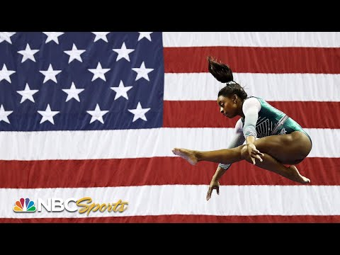 Simone Biles debuts two historic moves to lead at US Nationals   NBC Sports