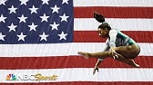 Simone Biles debuts two historic moves to lead at US NationalsNBC Sports
