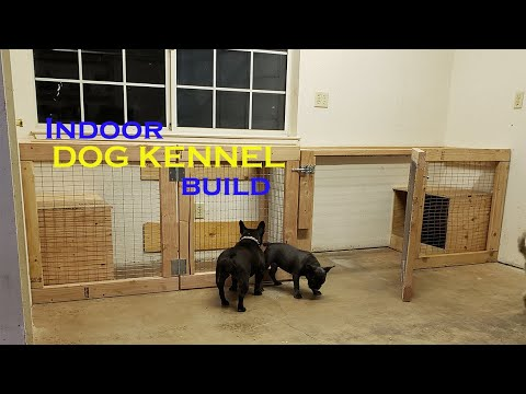 SUPER EASY Indoor DOG KENNEL Build!!! | Dog Run Part 2 | French Bulldog Dog Kennel Ideas