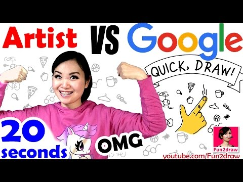 Artist VS Google Ai | Quick, Draw! ❤ Fun Art! | Mei Yu