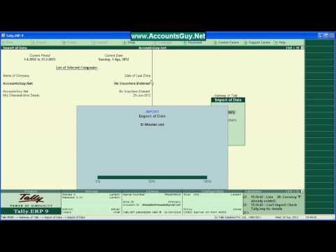 Export, And Import Ledgers From Old To New Company In Tally ERP 9