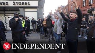 Police make arrests at anti-lockdown protests in Dublin