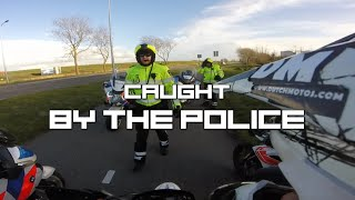 Mopeds caught by POLICE! - Dutch Motos meeting Texel