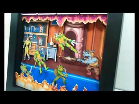 Quadro Diorama 3D Teenage Mutant Ninja Turtles