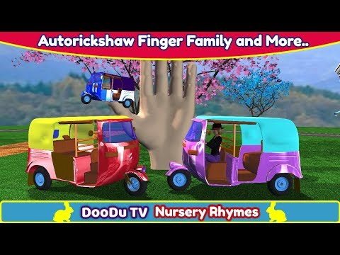 AutoRickshaw Rhymes | Finger Family Nursery Rhymes | Auto Rickshaw Video for Children & more Rhymes