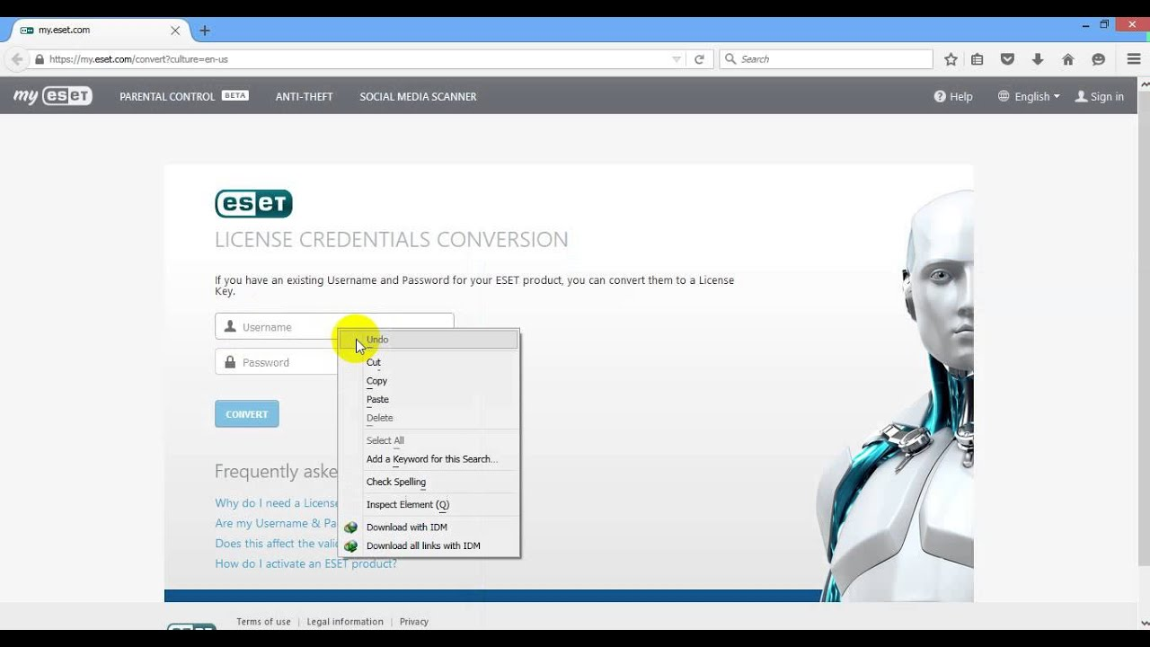 ESET NOD32 Antivirus ကို License Key ထည့္နည္းေလးပါ - YouTube