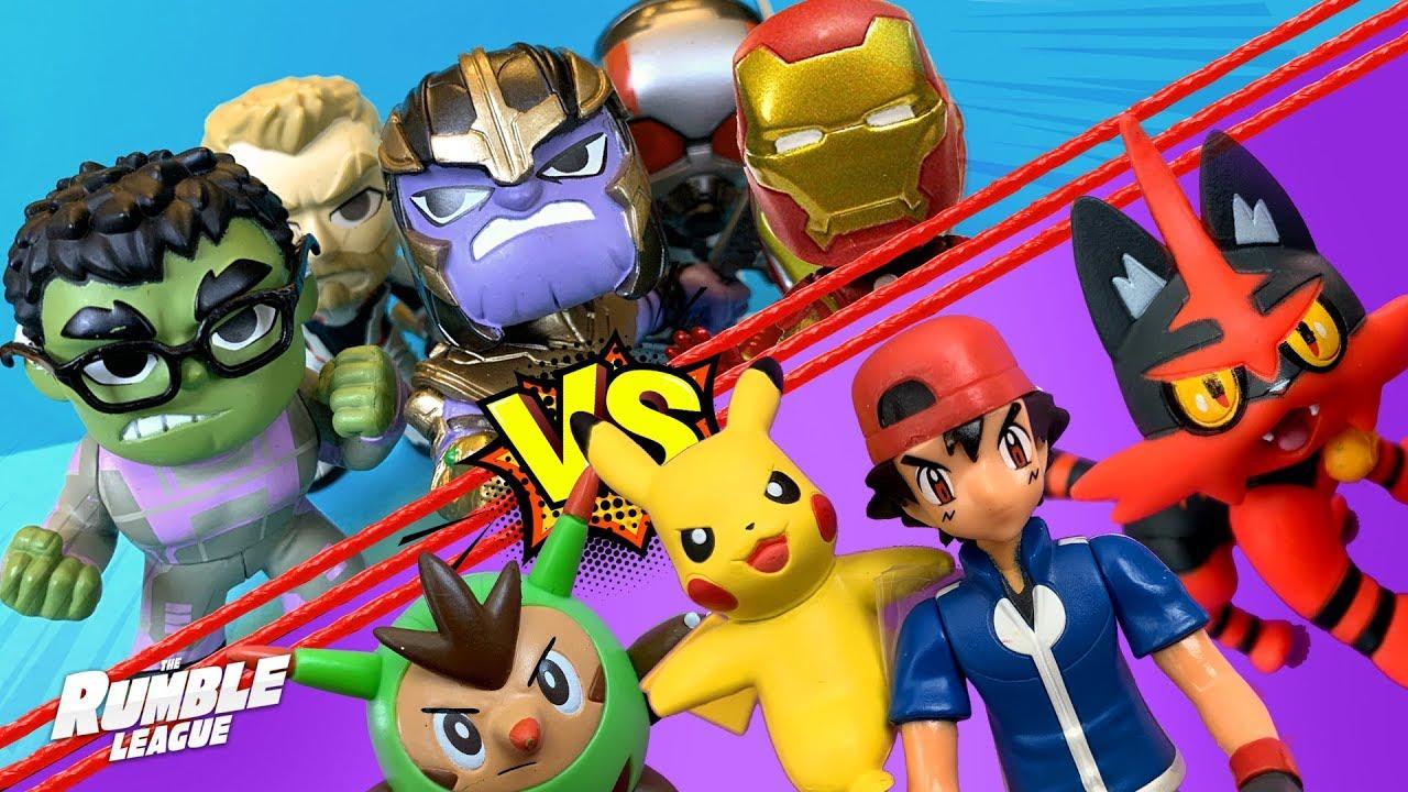 Pokemon vs Avengers Endgame! RumbleMania Tournament Part 6! // RUMBLE LEAGUE