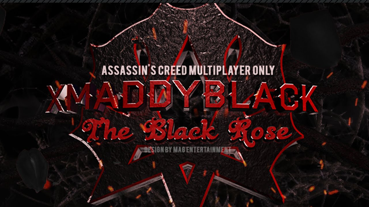Xmaddyblack Youtube Channel Banner Speed Art The Black Rose
