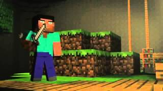 Minecraft - Steve and Pig vs Herobrine- 'Cube Land' - A Mine