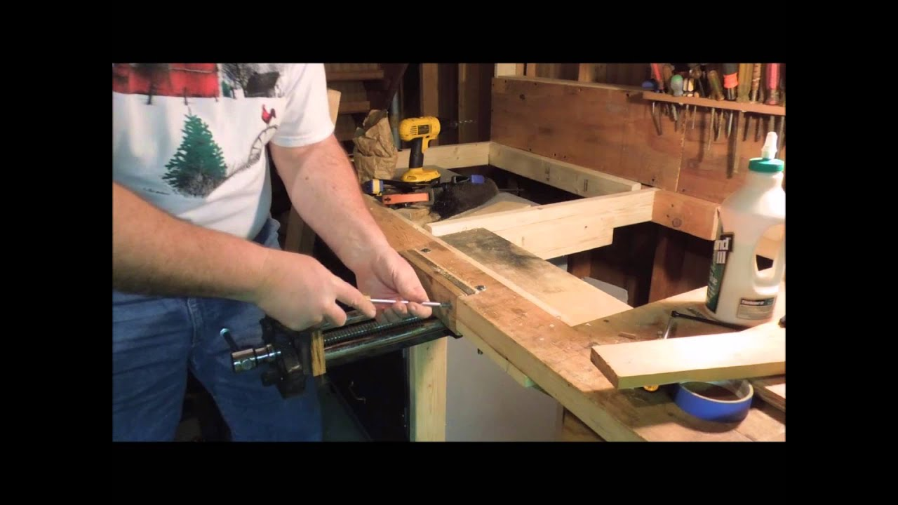 How To Install A Bench Vice Part - 19: Installing A Quick Adjust Bench Vise Part 2 Of 4 - A Video Tutorial By Old  Sneelocku0027s Workshop
