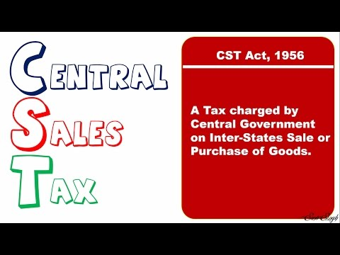 GST replaces CST (Cetral Sales Tax) - Brief Theory of CST II Taxation Law II BBA/CA/CS II ppt