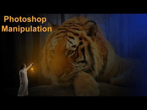 Big Lion Photo Manipulation l Photo Editing in Photoshop  | Photoshop Manipulation Tutorial thumbnail