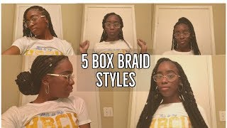 5 Box braid styles I love