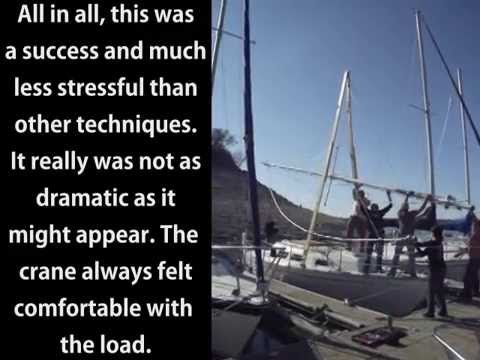 Lowering and stepping mast using a static a frame youtube publicscrutiny Images