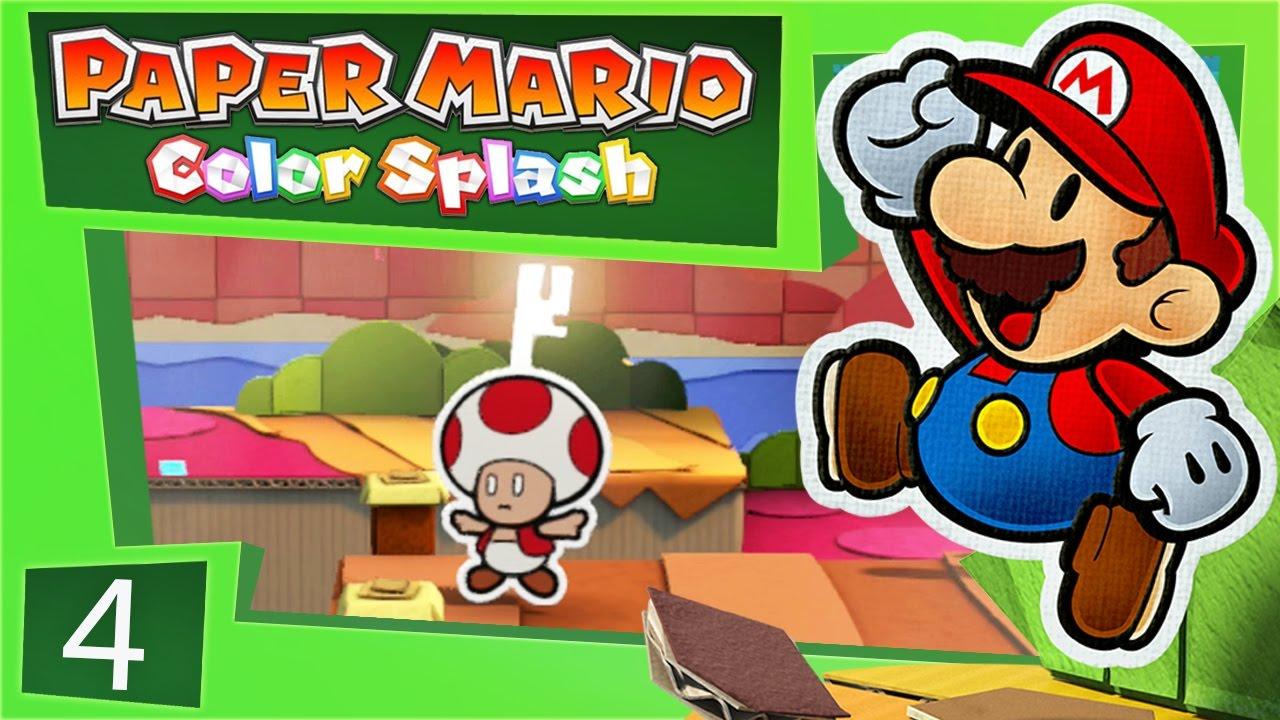 Paper Mario Color Splash Justice Toad Super Mario Bros Video
