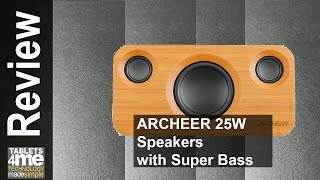 ARCHEER 25W Loud Bluetooth Speakers with Super Bass, Home Stereo Speaker with Subwoofer, Upgraded