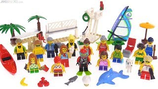 LEGO City Fun at the Beach minifig pack review ⛱️ 60153