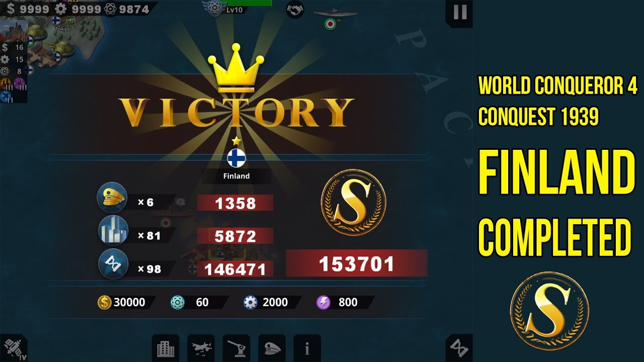 [CONQUEST] FINAL FINLAND CONQUEST 1939 VICTORY WORLD CONQUEROR 4