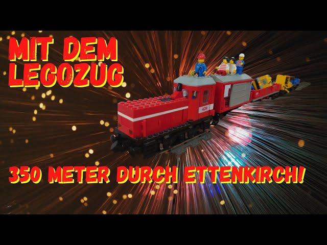 Mit dem Lego City Zug 60197 - 350 Meter durch Ettenkirch