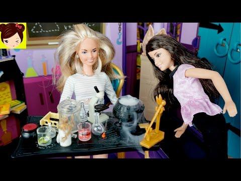 Laboratorio Secreto de Muñecas con Pociones Magicas Miniatura + Decorando casa de 3 Pisos de Barbie