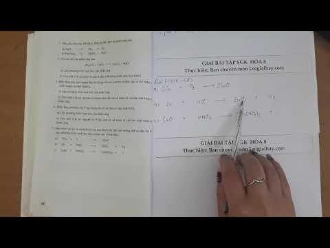 Giải bài 7 trang 58 SGK Hóa học 8