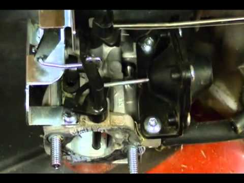 Carburetor Linkages and Springs on a Toro Recycler Kohler Courage XT