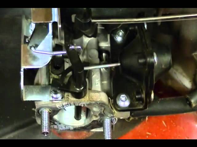 Riding Mower - Carburetor Linkages and Springs on a Toro