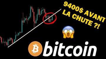 BITCOIN - RETOUR AUX 9400$ AVANT LA GRANDE CHUTE ?! analyse btc crypto monnaie fr