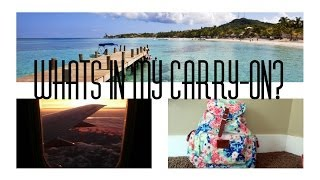 ♡ Whats in my Carry-on Bag?! ♡