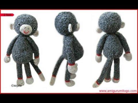 Free Crochet Monkey Amigurumi Pattern - thefriendlyredfox.com | 360x480