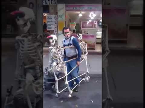 Esqueletos Y Payasito Bailando El Scooby Doo Papa Cumbia...