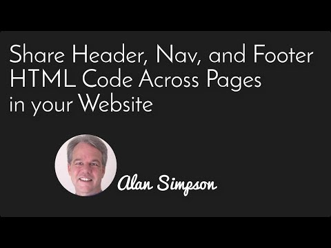 Share Header, Nav and Footer HTML Code Across Pages