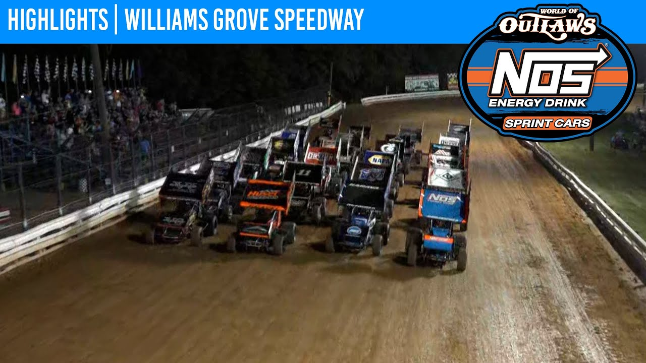 World of Outlaws NOS Energy Drink Sprint Cars Williams Grove Speedway, July 23, 2021   HIGHLIGHTS