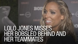 Lolo Jones Misses Her Bobsled Behind And Teammates