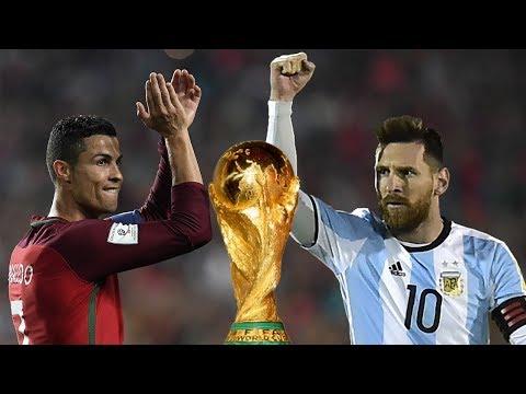 Cristiano Ronaldo vs Leo Messi - Todos los Goles en Torneos Oficiales con su Selección (28/6/2018)