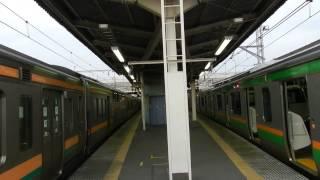 防護無線受信の瞬間・211系が緊急停止!上野駅にて