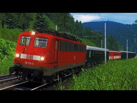 BR110 Sonderfahrt Österreich Südbahn Semmeringbahn Gloggnitz - Semmering RSSLO Train Simulator 2017