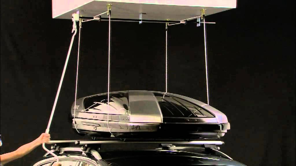 thule boxlift 571 f r dachboxen youtube. Black Bedroom Furniture Sets. Home Design Ideas