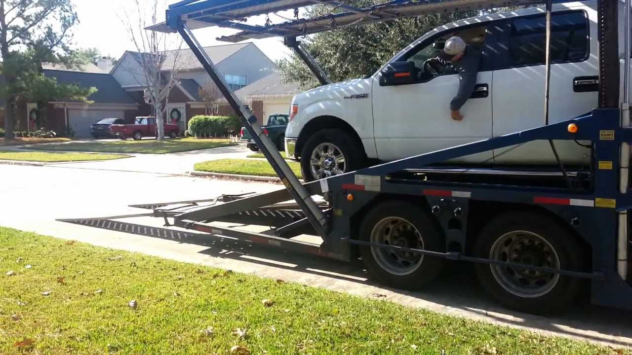 Ford F150 truck transport delivery door to door car shipping - YouTube