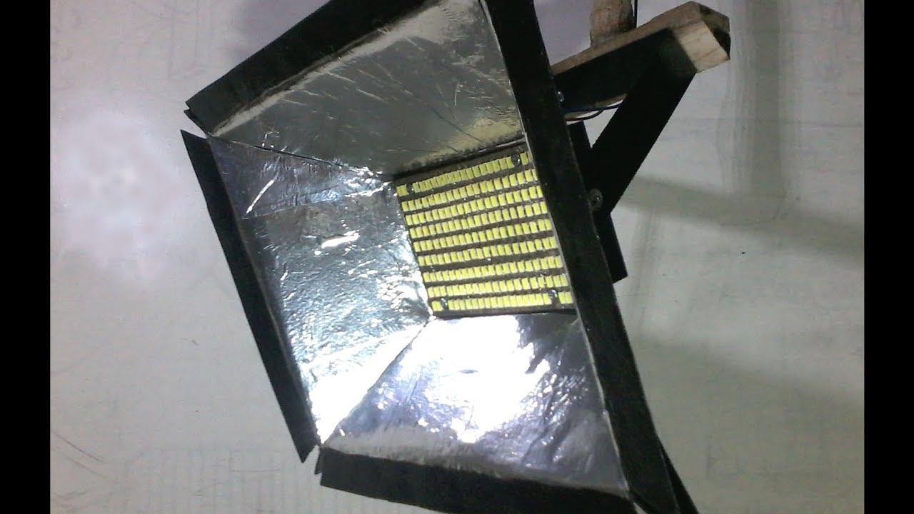 Cara Membuat Lampu Sorot Led How To Make Led Flood Light Youtube