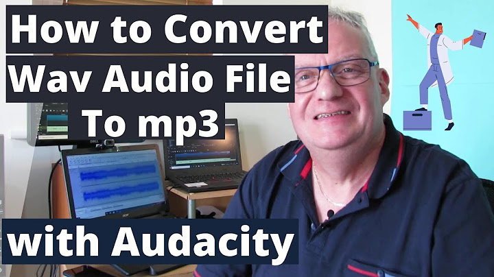 how to convert a wav audio file to mp3 with audacity 2020